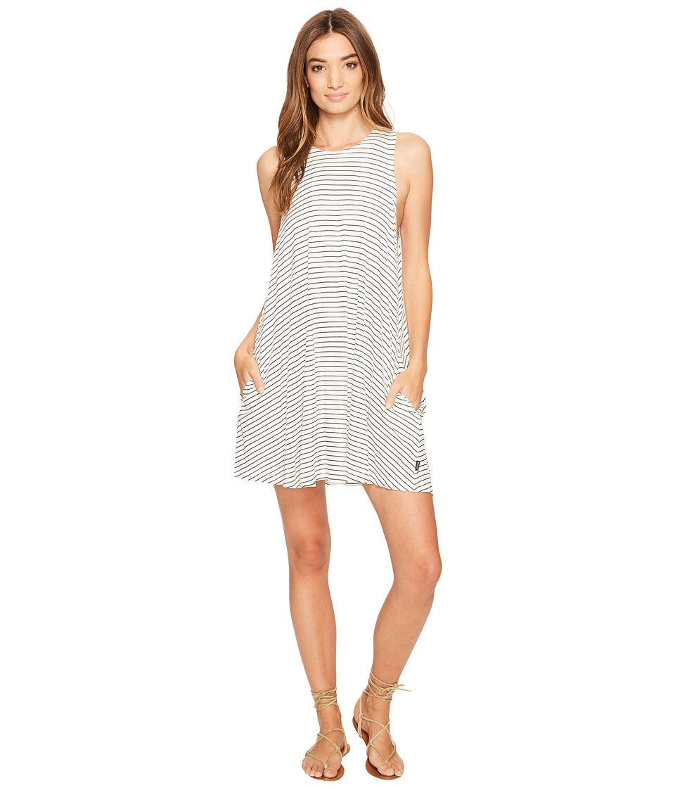 RVCA Sucker Punch Stripe Dress (Vintage White) Women