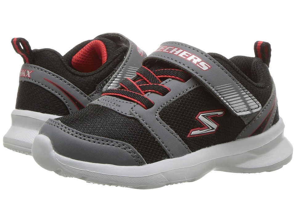 SKECHERS KIDS - Skech - Stepz - Powerjump (Toddler/Little Kid) (Black/Grey/Red) Boy's Shoes