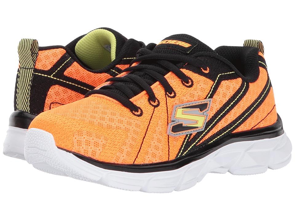 SKECHERS KIDS - Advance Lace-Up Sneaker (Little Kid/Big Kid) (Orange/Black) Boy's Shoes