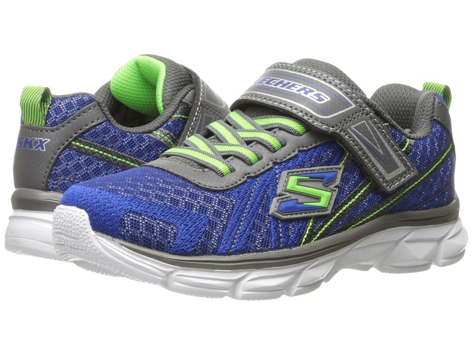 SKECHERS KIDS - Advance (Little Kid/Big Kid) (Blue/Gray) Boy's Shoes