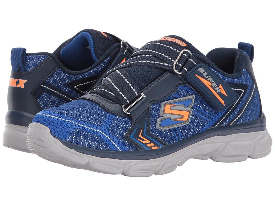 SKECHERS KIDS - Advance Super Z Sneaker (Little Kid/Big Kid) (Blue/Navy) Boy's Shoes