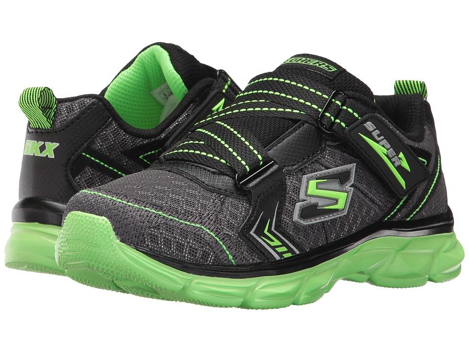 SKECHERS KIDS - Advance Super Z Sneaker (Little Kid/Big Kid) (Charcoal/Black/Lime) Boy's Shoes