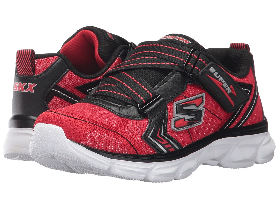 SKECHERS KIDS - Advance Super Z Sneaker (Little Kid/Big Kid) (Red/Black) Boy's Shoes