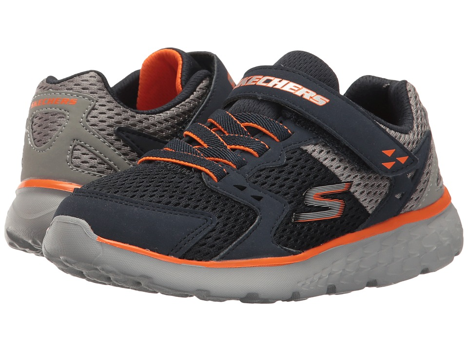 SKECHERS KIDS - Go Run 400 (Little Kid/Big Kid) (Navy/Gray) Boy's Shoes