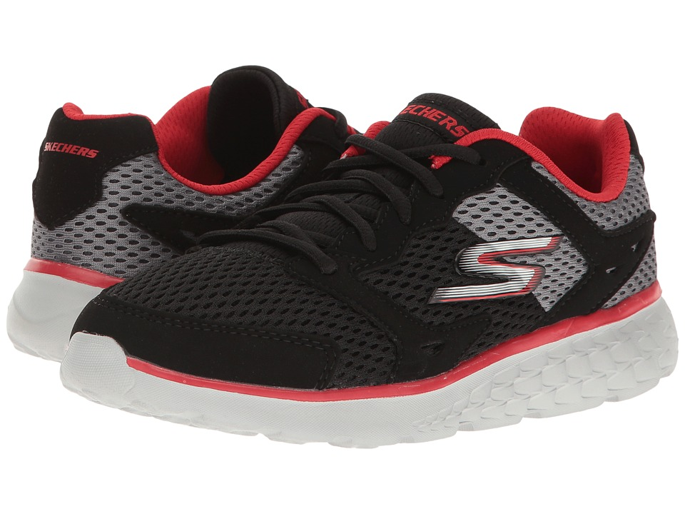 SKECHERS KIDS - Go Run 400 (Little Kid/Big Kid) (Black/Grey/Red) Boy's Shoes