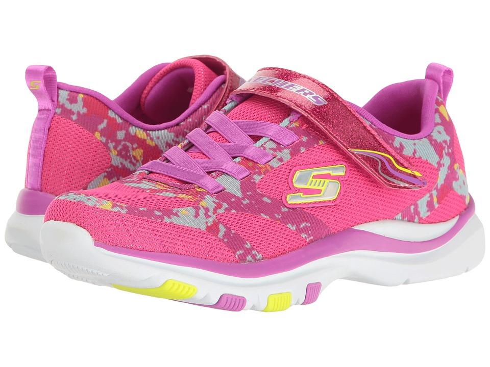 SKECHERS KIDS - Trainer Lite (Little Kid/Big Kid) (Neon Pink/Purple) Girl's Shoes