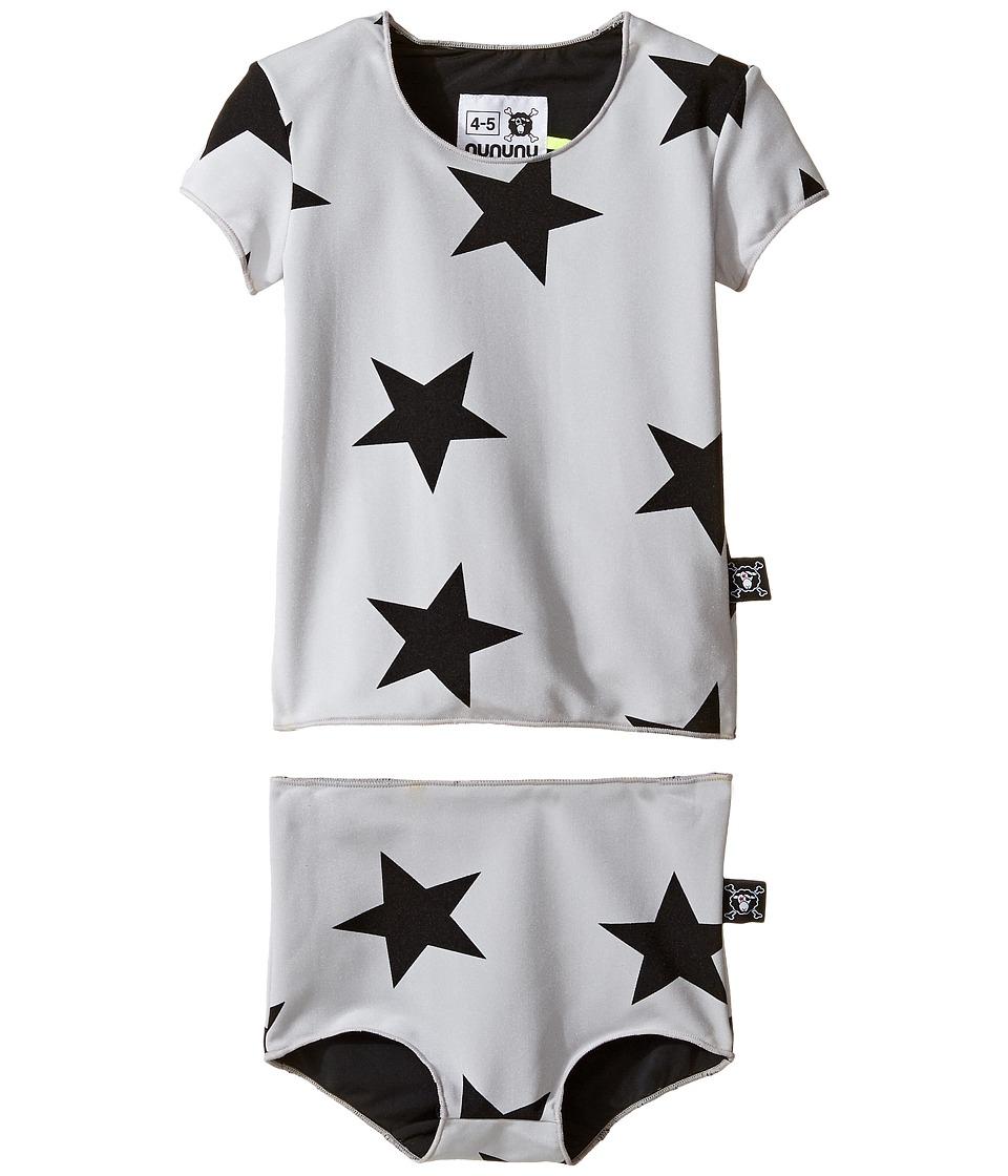 Nununu - Star Shirtini Set (Toddler/Little Kids) (Grey) Girl's Swimwear Sets