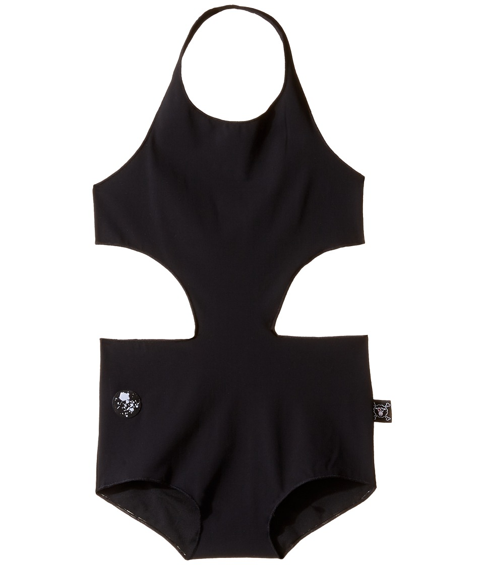 Nununu - Cut Out One-Piece Swimsuit (Little Kids/Big Kids) (Black) Girl's Swimsuits One Piece
