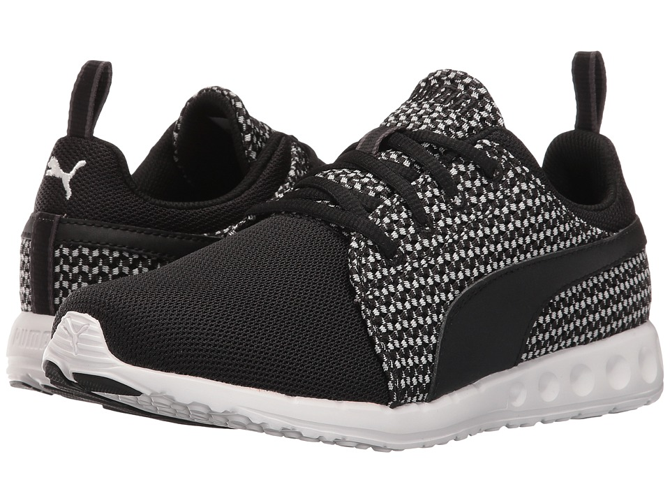 PUMA - Carson Runner Knit (Black/Star White) Women's Shoes