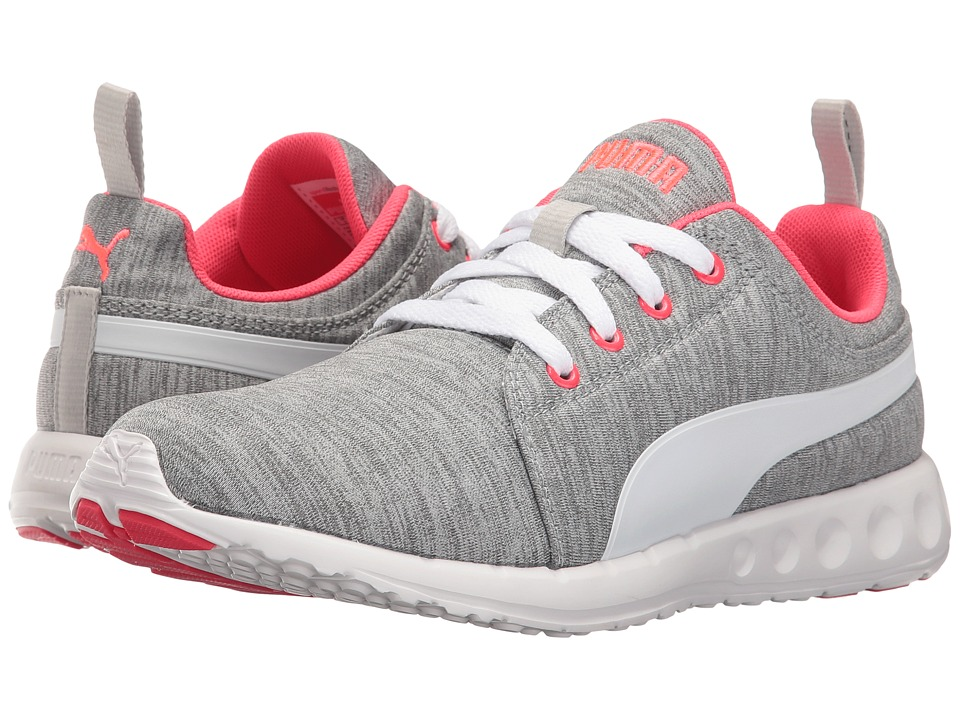 PUMA - Carson Runner Heather (Grey/White/Bright Plasma) Women's Shoes