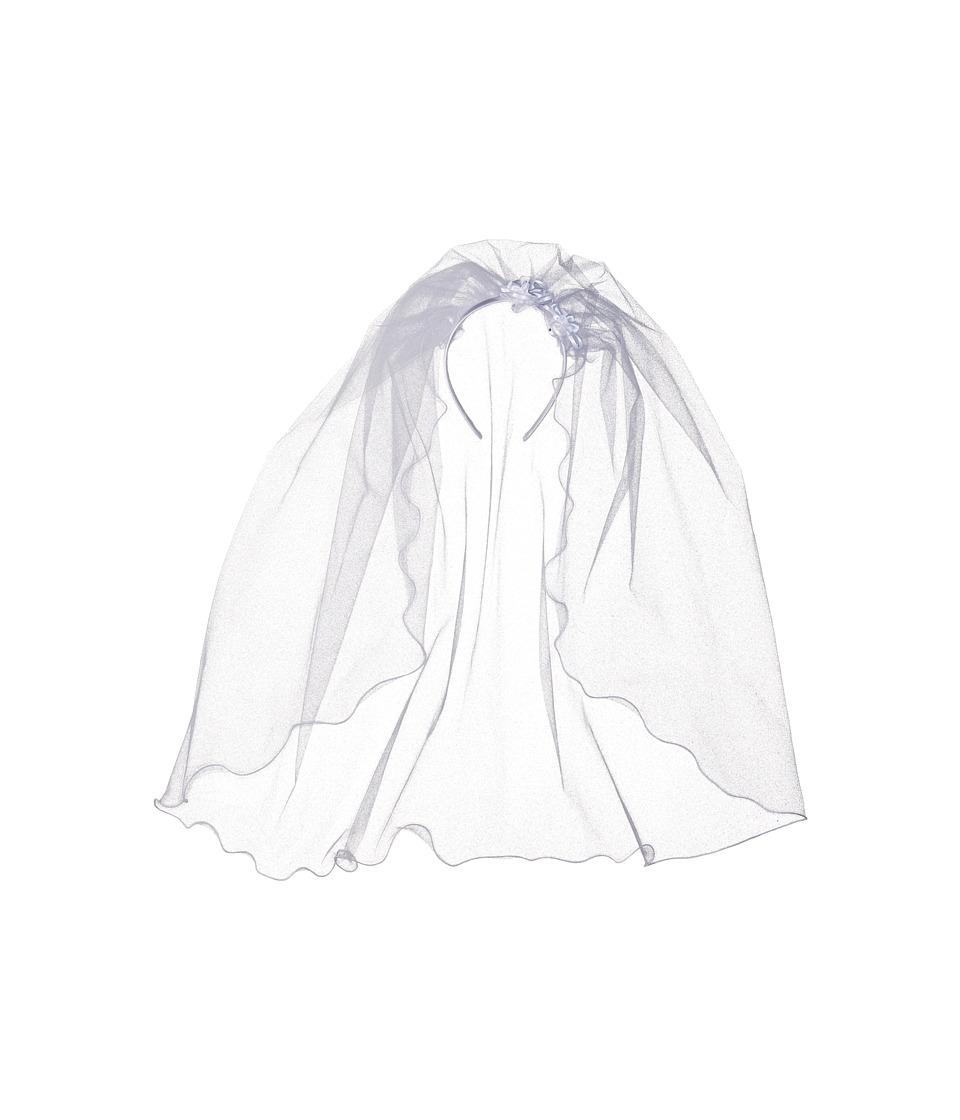 Us Angels - Beaded Flower Headband w/ Veil (Little Kids/Big Kids) (White) Headband