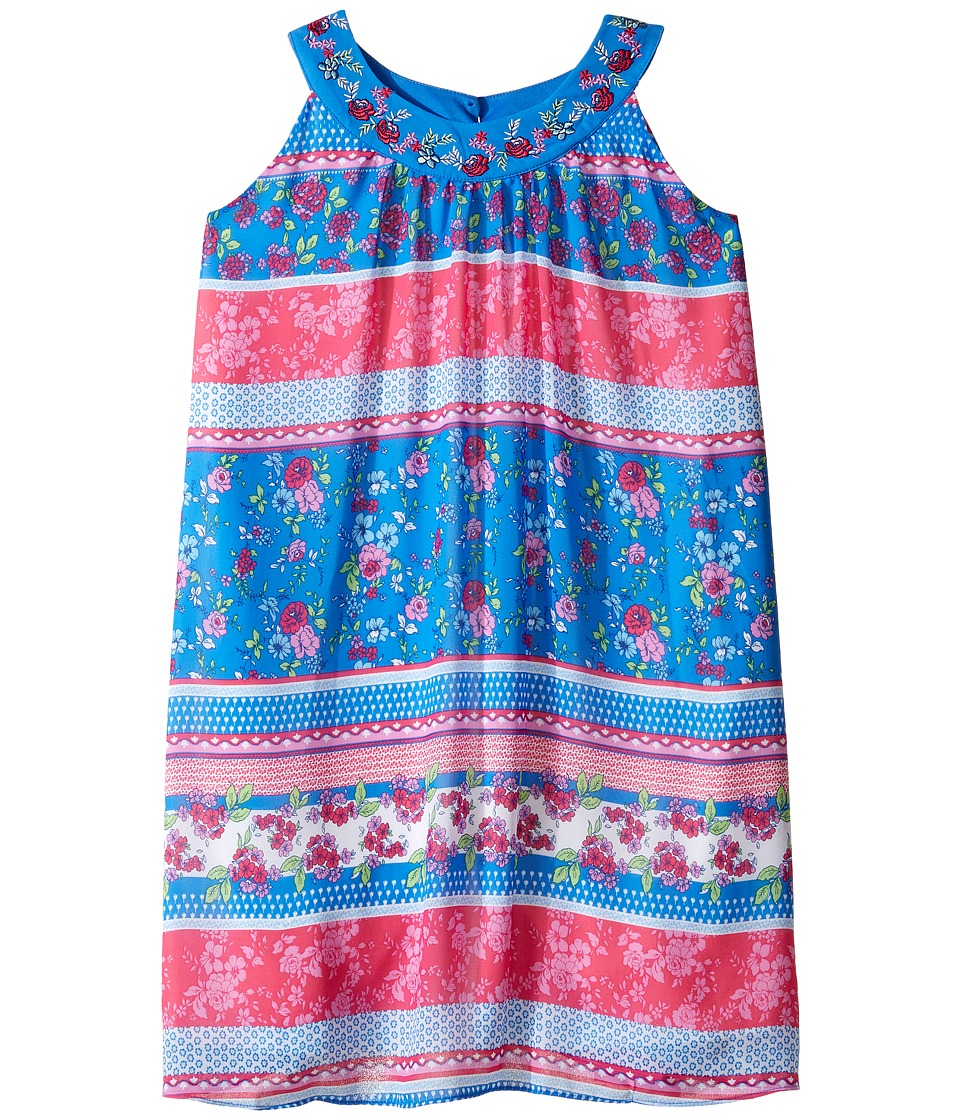 Us Angels - Georgette Sleeveless Print Trapeze Dress (Big Kids) (Multi) Girl's Dress