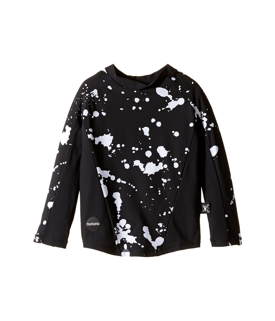 Nununu - Long Sleeve Rashguard (Toddler/Little Kids) (Black) Girl's Swimwear