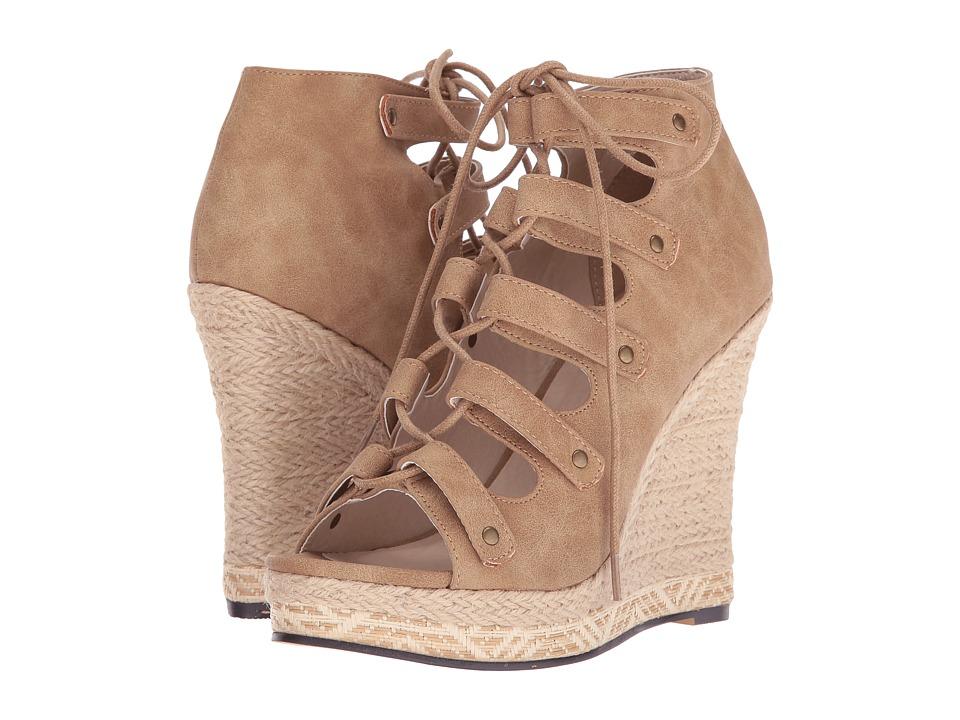 Michael Antonio - Gizi (Dark Sand) Women's Wedge Shoes