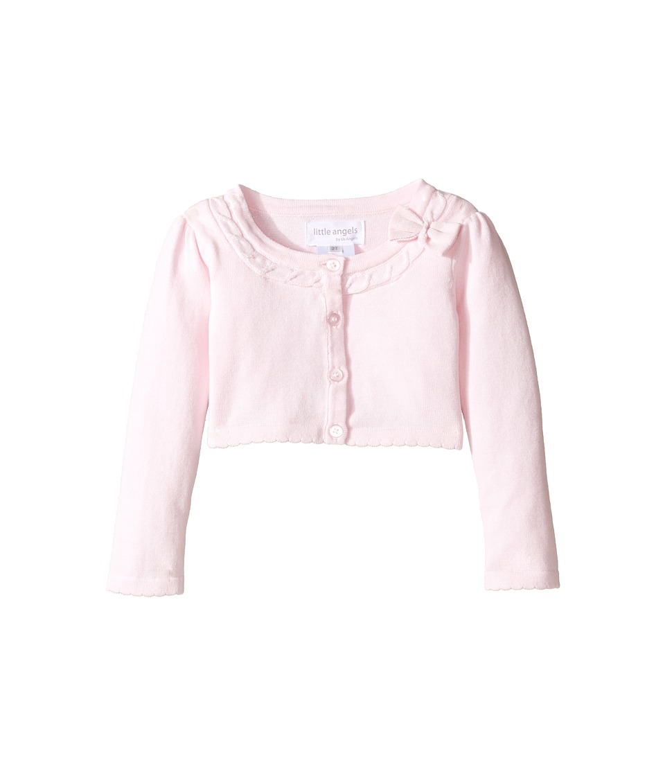 Us Angels - Bow Front Sweater (Toddler/Little Kids) (Pink) Girl's Sweater