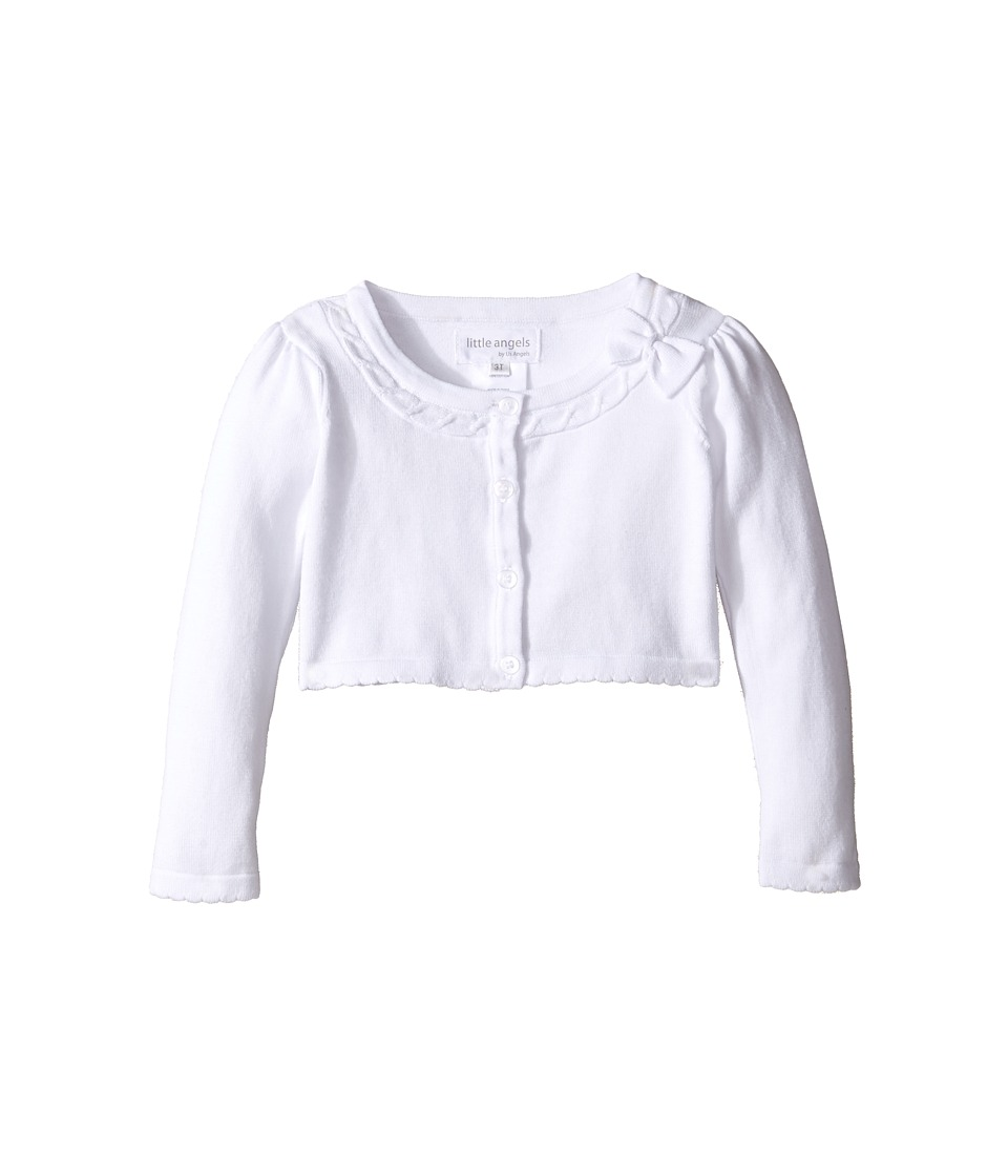 Us Angels - Bow Front Sweater (Toddler/Little Kids) (White) Girl's Sweater