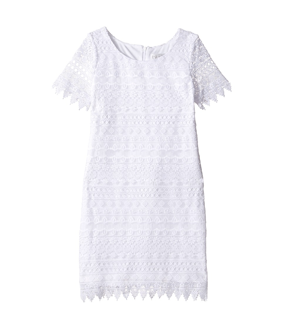 Us Angels - Sleeveless Sheath w/ Lace Overlay Dress (Big Kids) (White) Girl's Dress