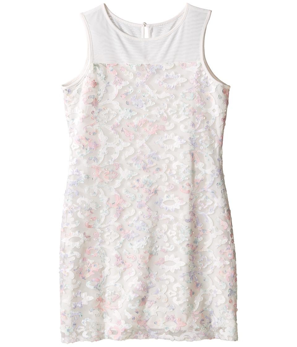 Us Angels Printed Lace Sleeveless Illusion Sheath Dress (Big Kids) (Multi) Girl