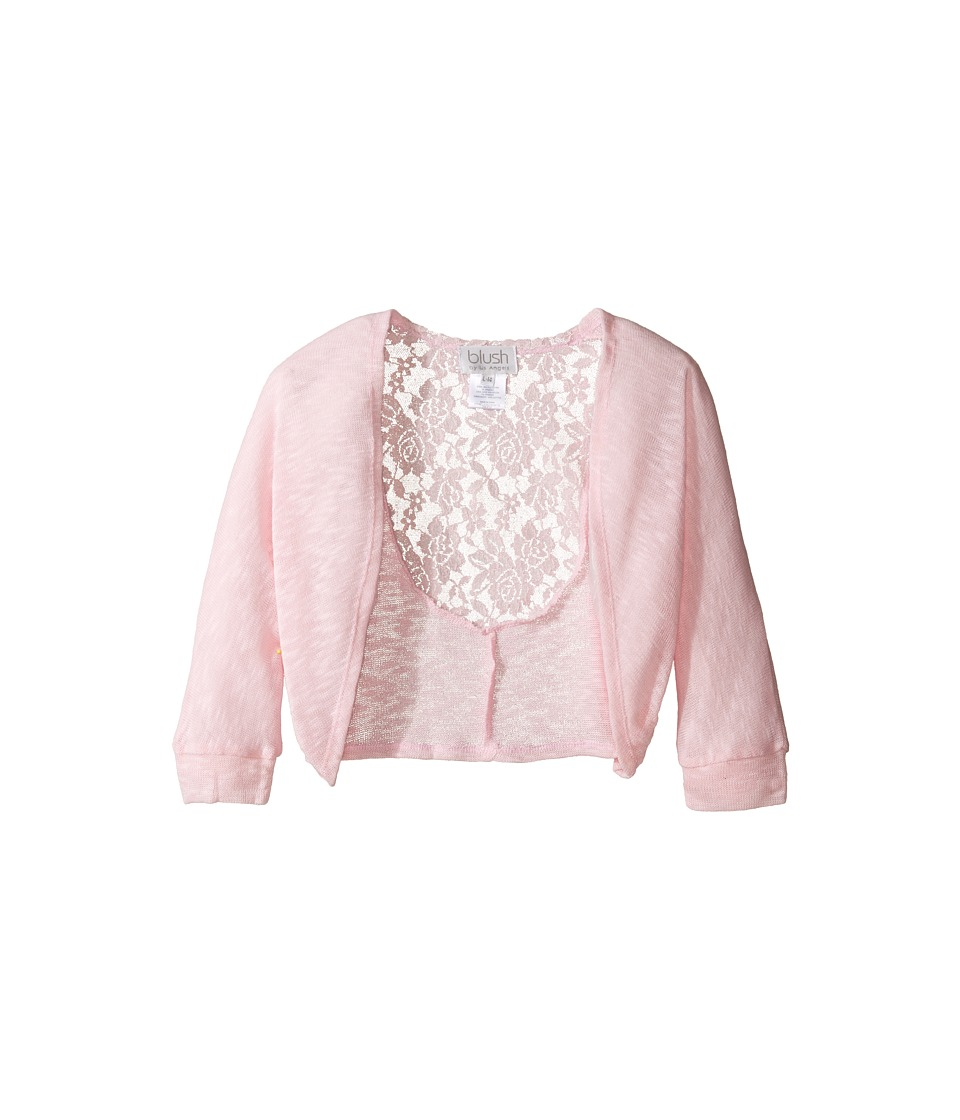 Us Angels - Knit Lace Sweater (Big Kids) (Pink) Girl's Sweater