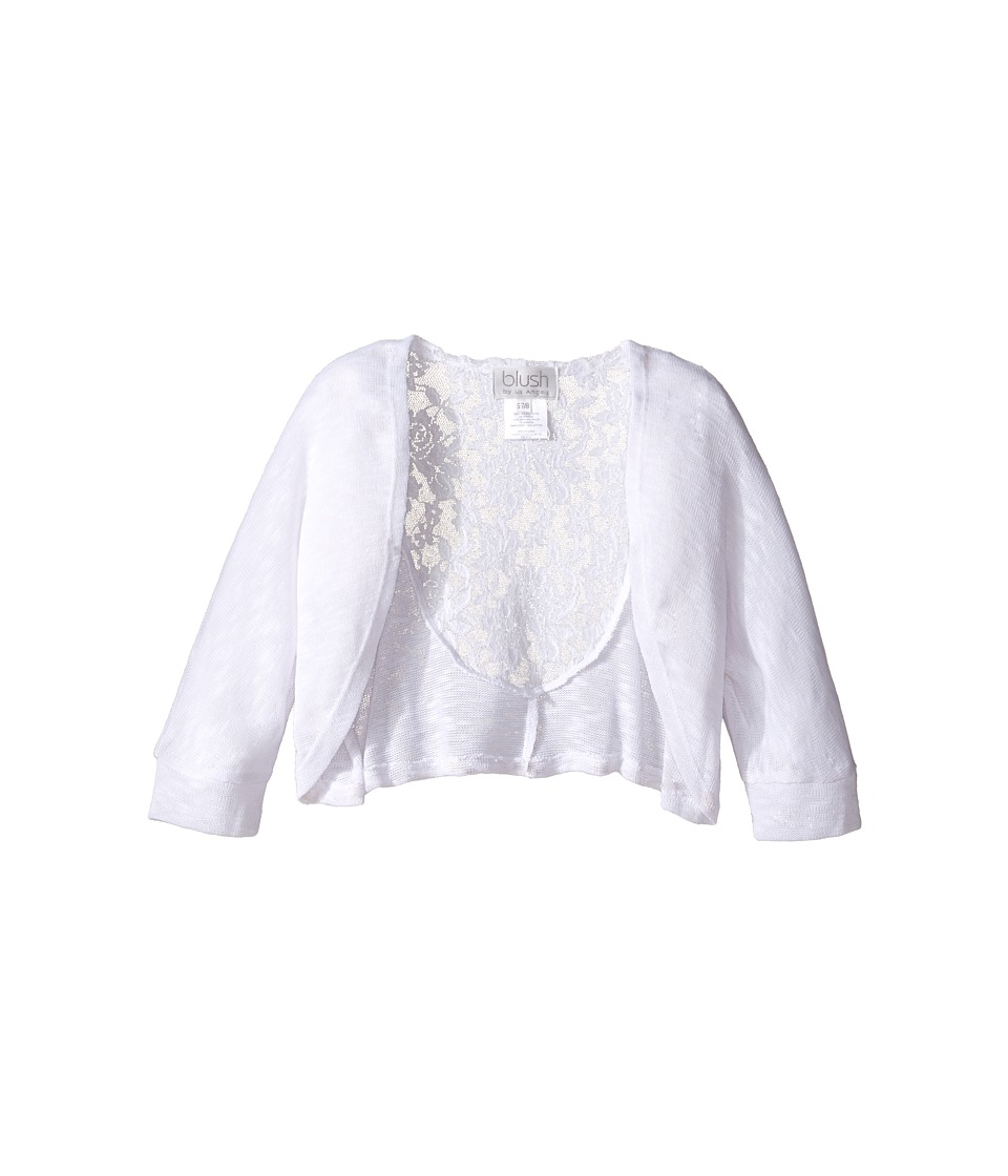 Us Angels - Knit Lace Sweater (Big Kids) (White) Girl's Sweater
