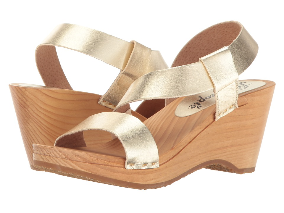 Free People - Dune Beach Clog (Gold) Women's Clog Shoes