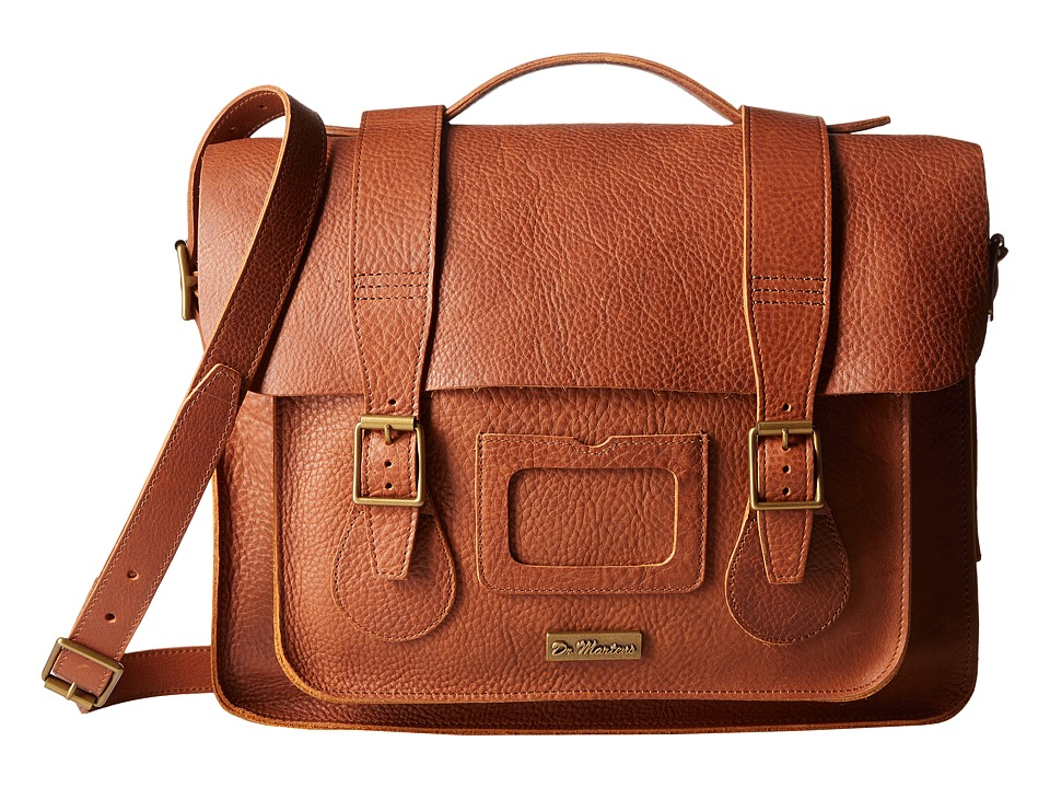 Dr. Martens - 15 Leather Satchel (Tan) Satchel Handbags