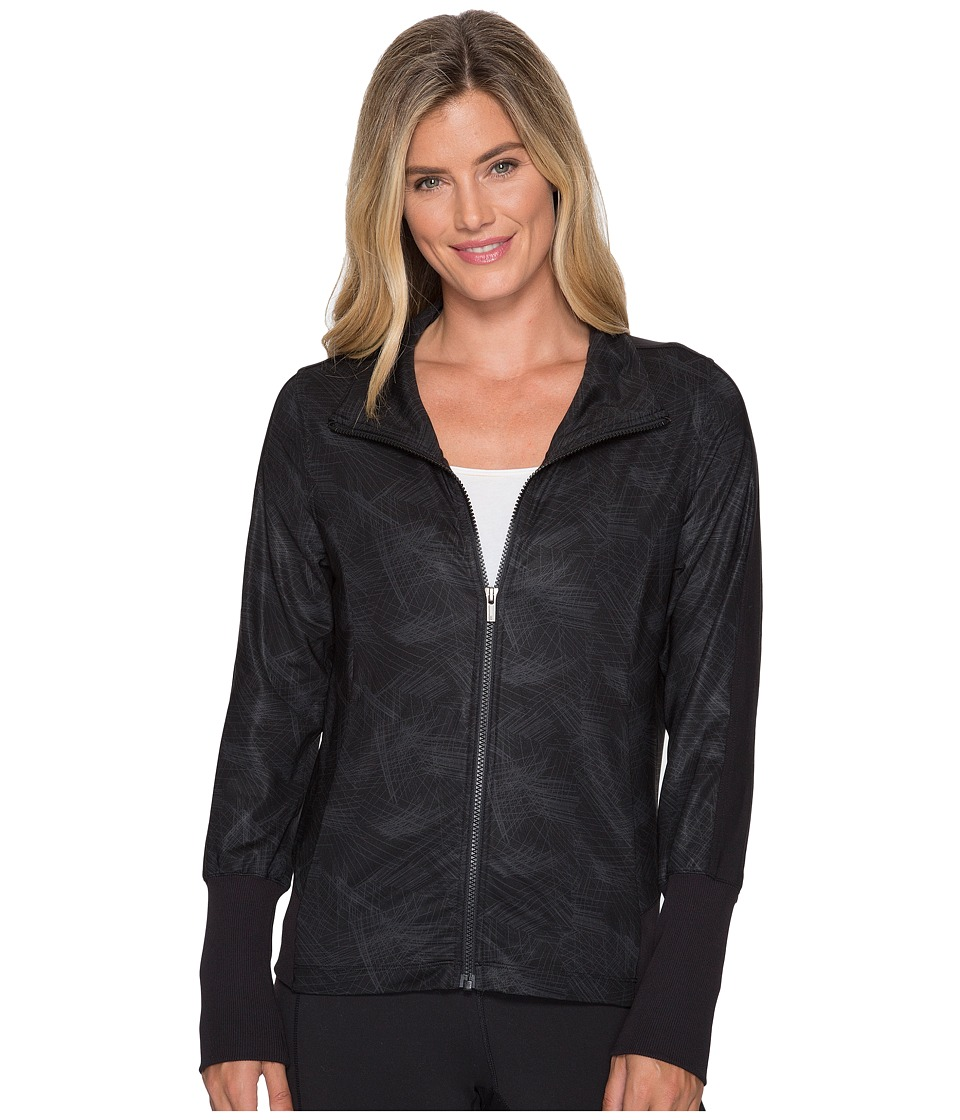 Lucy - Track Jacket (Lucy Black/Fossil Firework Print) Women's Coat