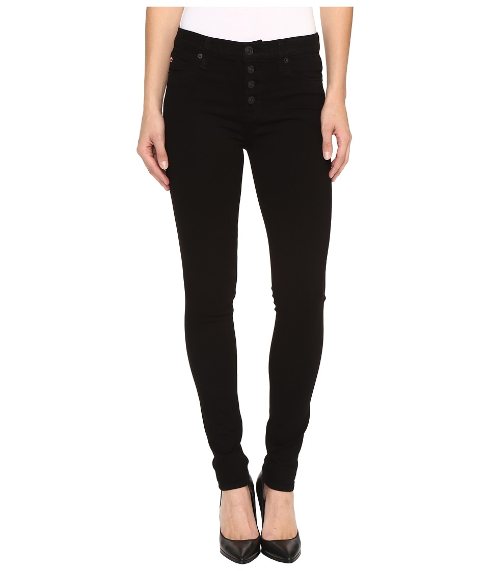 Hudson - Ciara Super Skinny Exposed Buttons Jeans in Black (Black) Women's Jeans