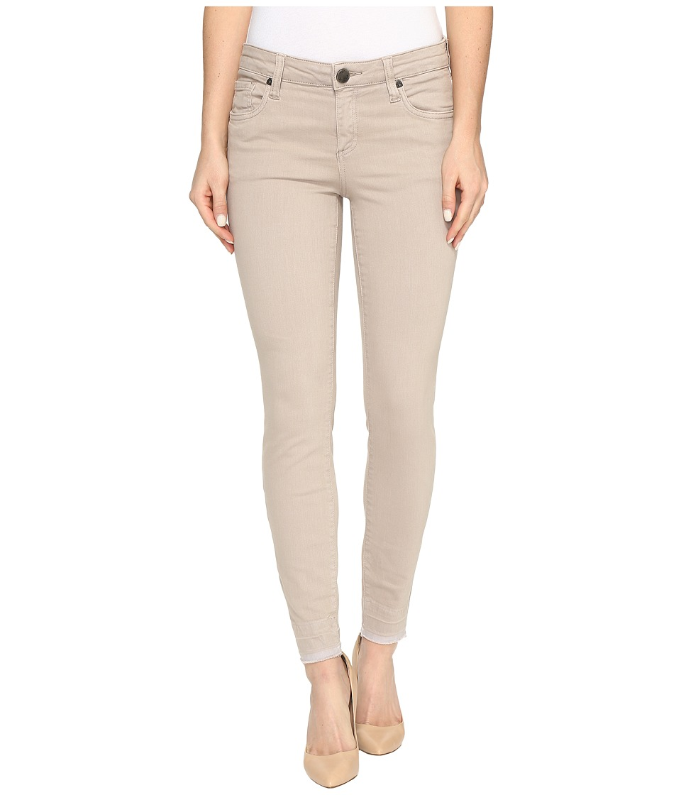 KUT from the Kloth - Connie Ankle Skinny with Released Hem in Khaki (Khaki) Women's Jeans
