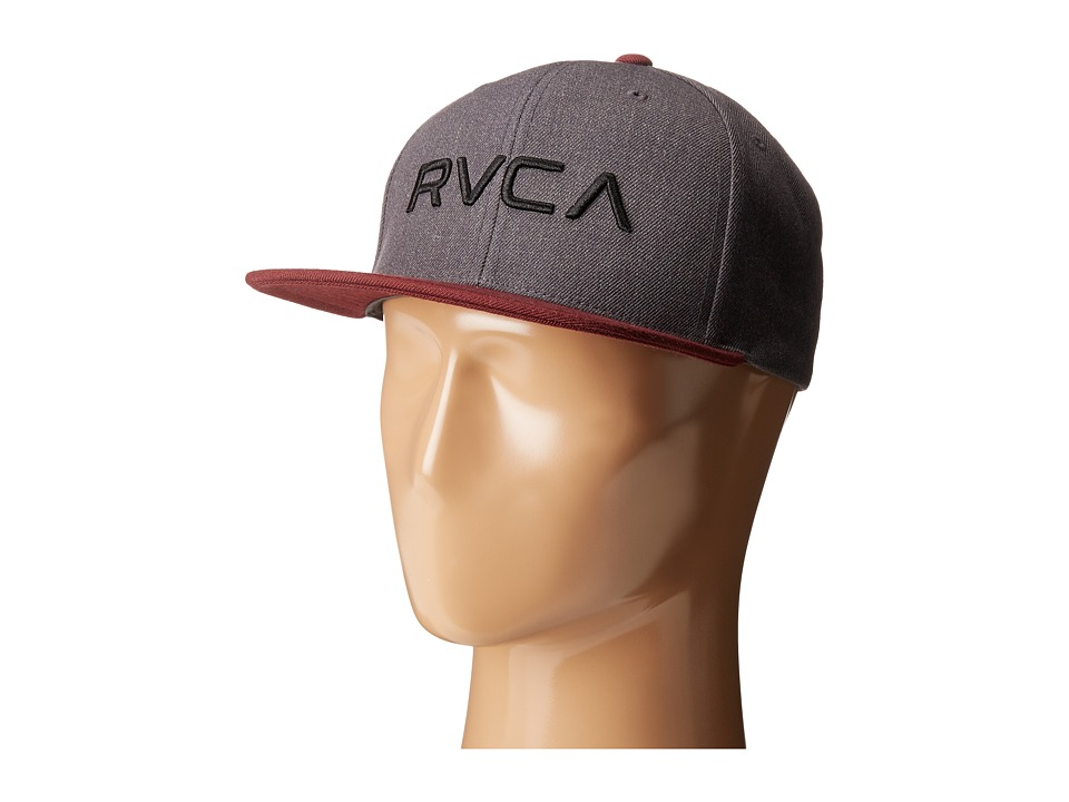 RVCA - Twill Snapback (Red Heather) Baseball Caps