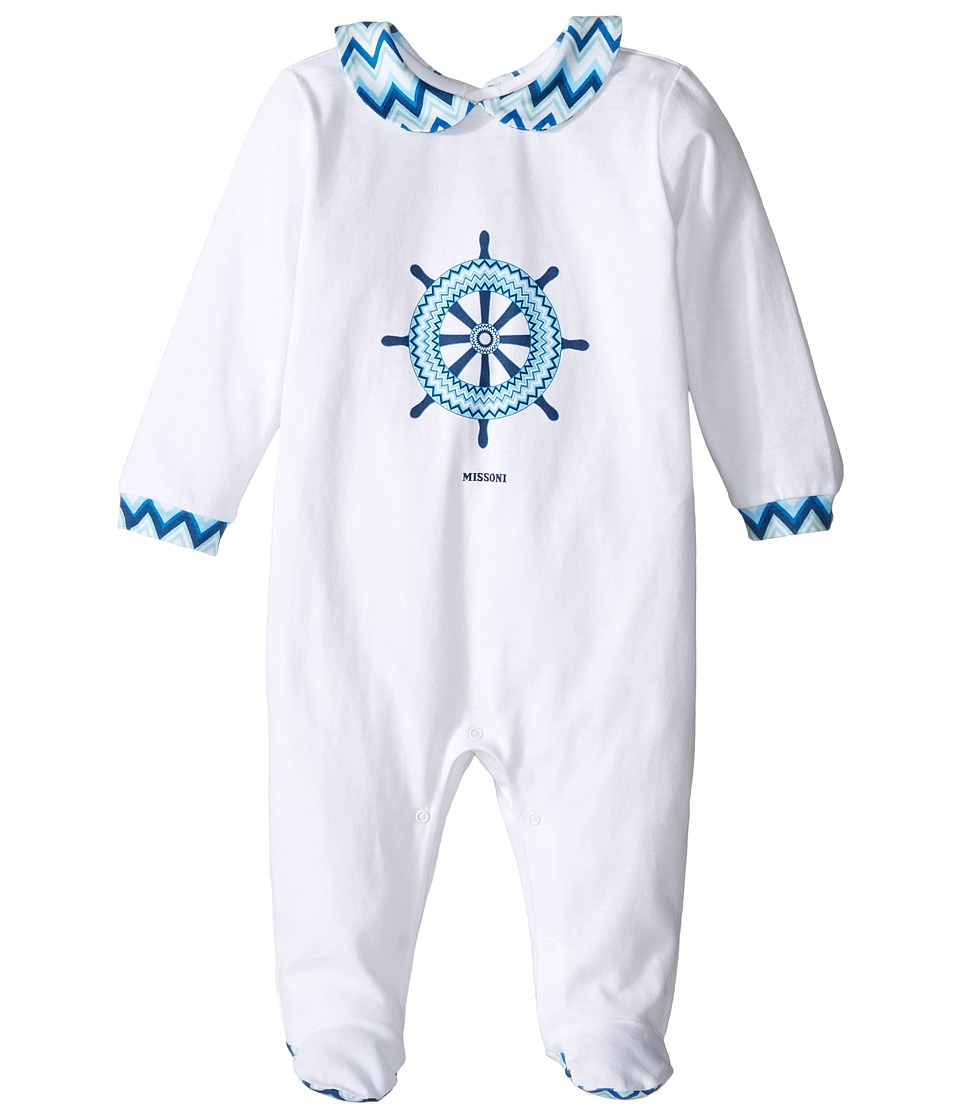 Missoni Kids - Jersey Zigzag Wheel One-Piece (Infant) (White) Boy's Jumpsuit & Rompers One Piece