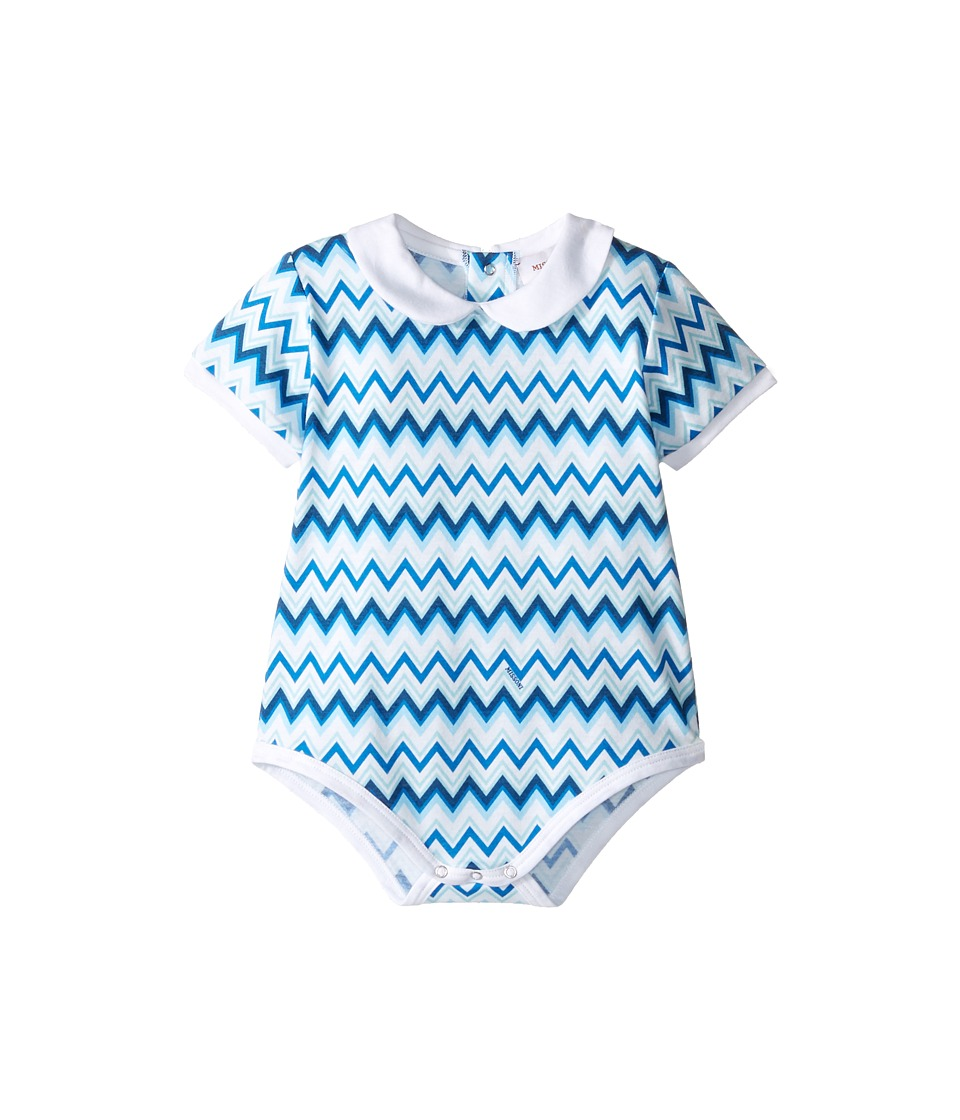 Missoni Kids - Jersey Zigzag All Over Printed One-Piece (Infant) (White) Boy's Jumpsuit & Rompers One Piece