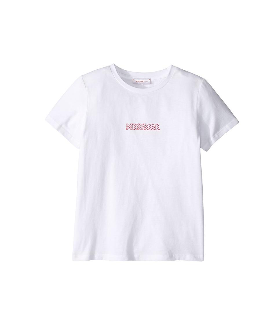 Missoni Kids - Printed Zigzag Logo T-Shirt (Big Kids) (Pink) Girl's T Shirt