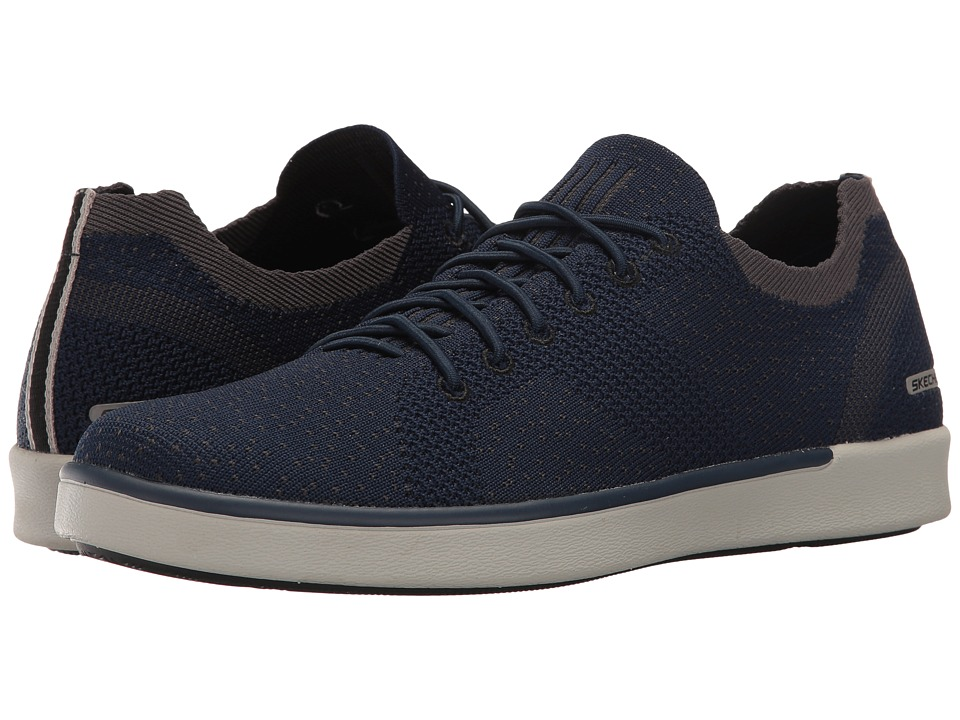 SKECHERS - Classic Fit Boyar - Molsen (Navy Knitted Mesh) Men's Shoes