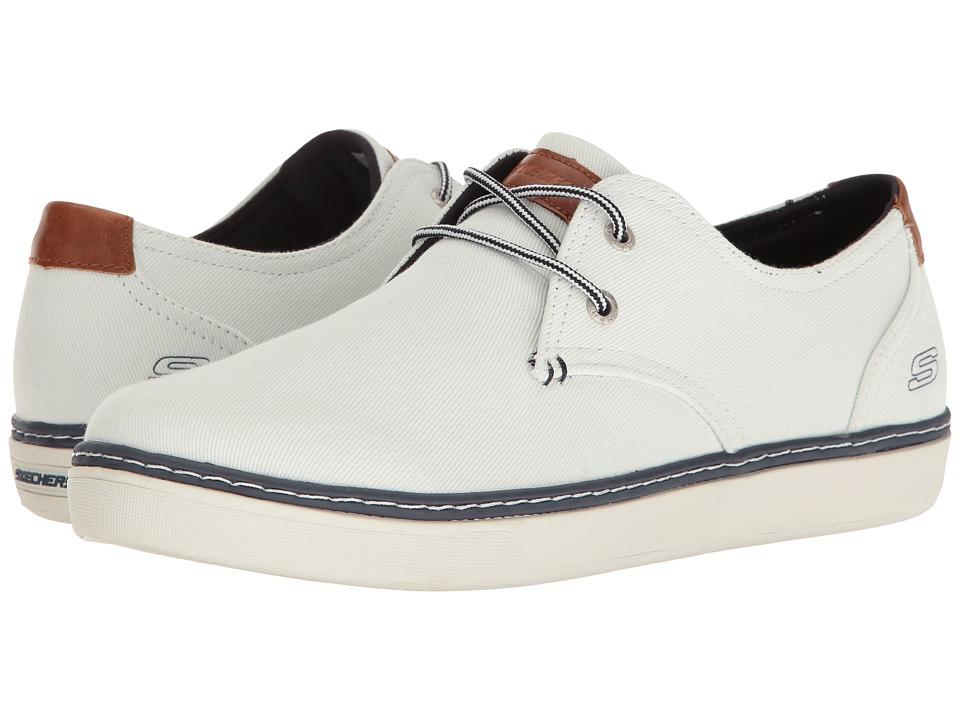SKECHERS - Relaxed Fit Palen - Gadon (White Canvas) Men's Shoes