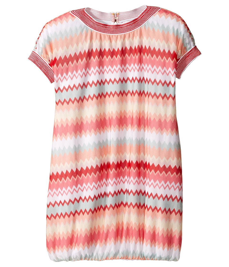 Missoni Kids - Multiline A-Line Dress (Big Kids) (Pink) Girl's Dress