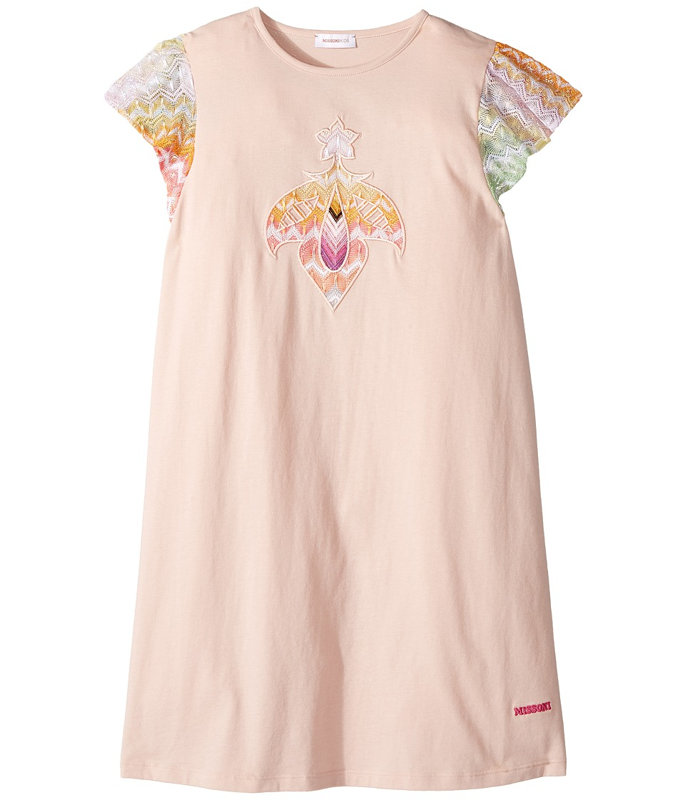 Missoni Kids - Embroidered Patch Dress (Big Kids) (Pink) Girl's Dress