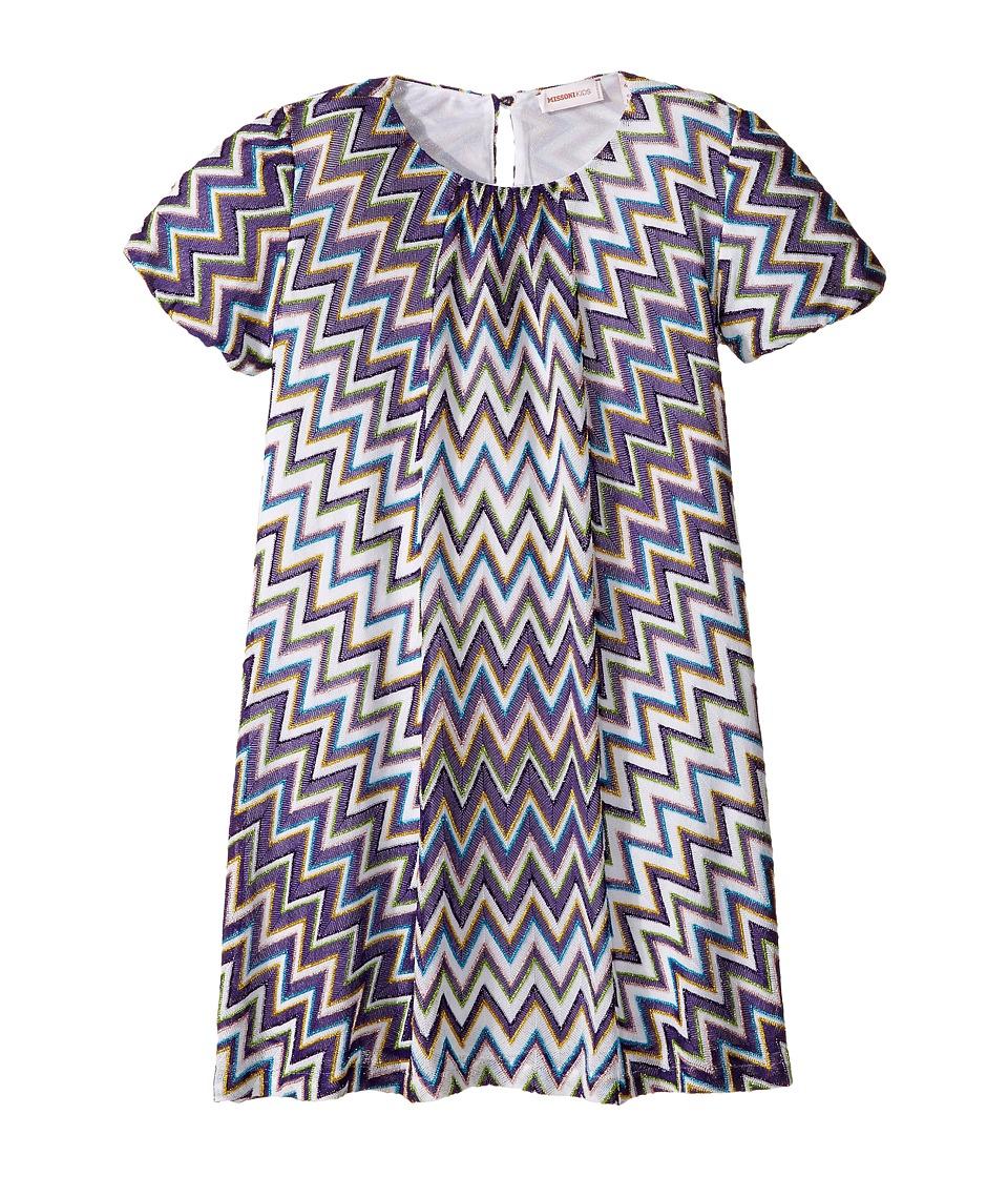 Missoni Kids - Lurex Zigzag Dress (Toddler/Little Kids) (Purple) Girl's Dress