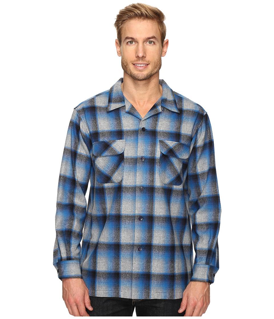 Pendleton - L/S Board Shirt (Blue/Grey Mix Ombre) Men's Long Sleeve Button Up