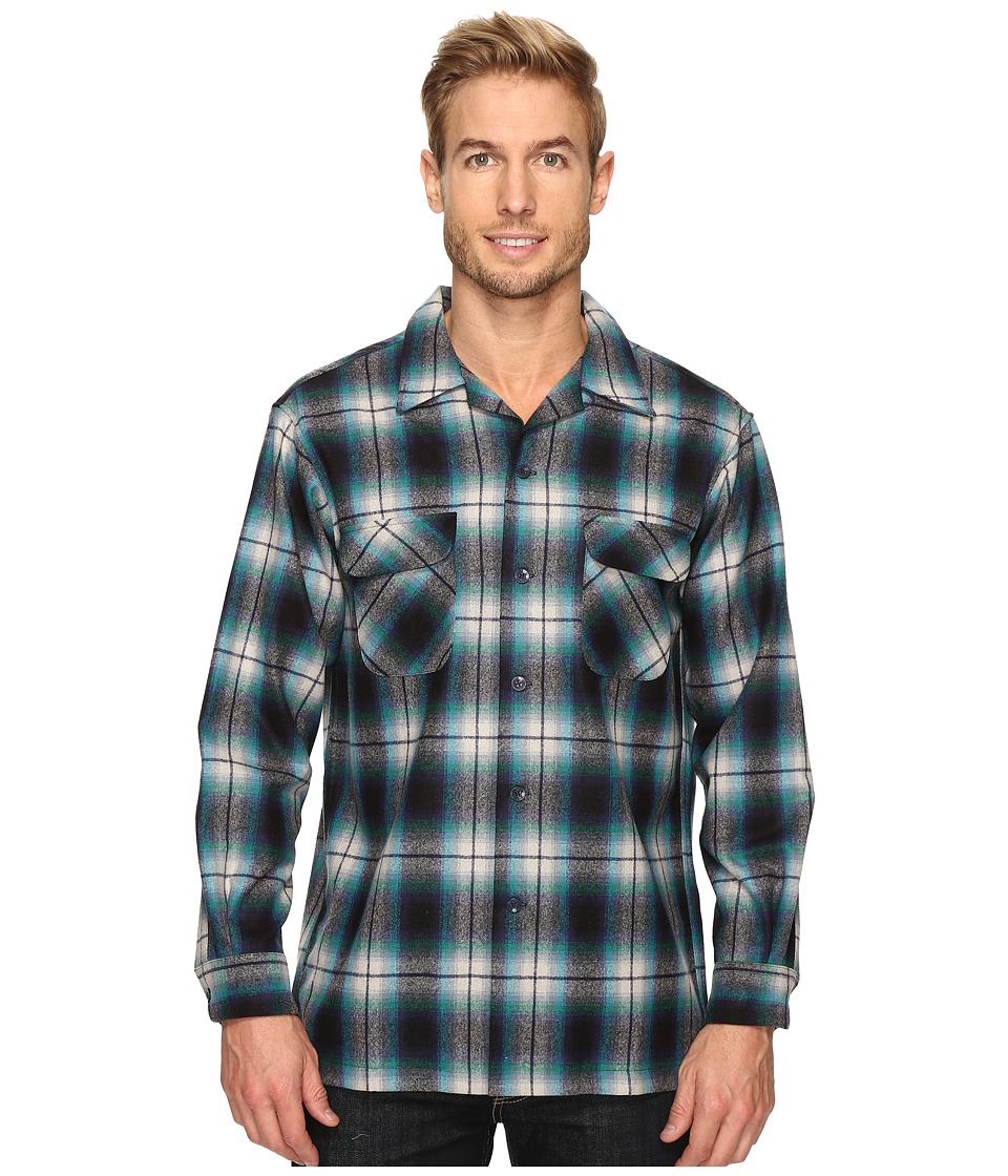 Pendleton - L/S Board Shirt (Blue/Tan/Turquoise Ombre) Men's Long Sleeve Button Up