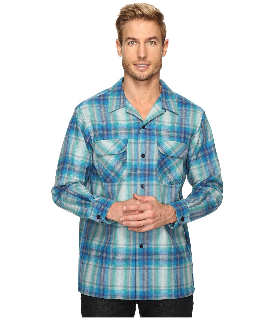 Pendleton - L/S Surf Board Shirt (Blue/Turquoise Ombre) Men's Clothing
