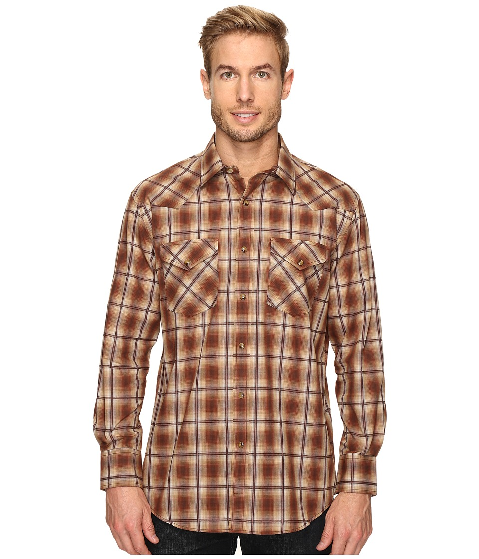 Pendleton - Long Sleeve Frontier (Brown Ombre) Men's Clothing