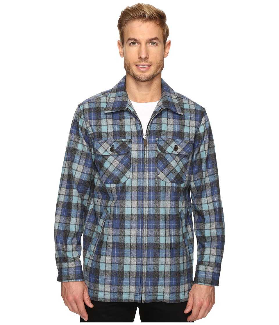 Pendleton - Brightwood Zip Jacket (Blue/Green Original Surf Plaid) Men's Coat
