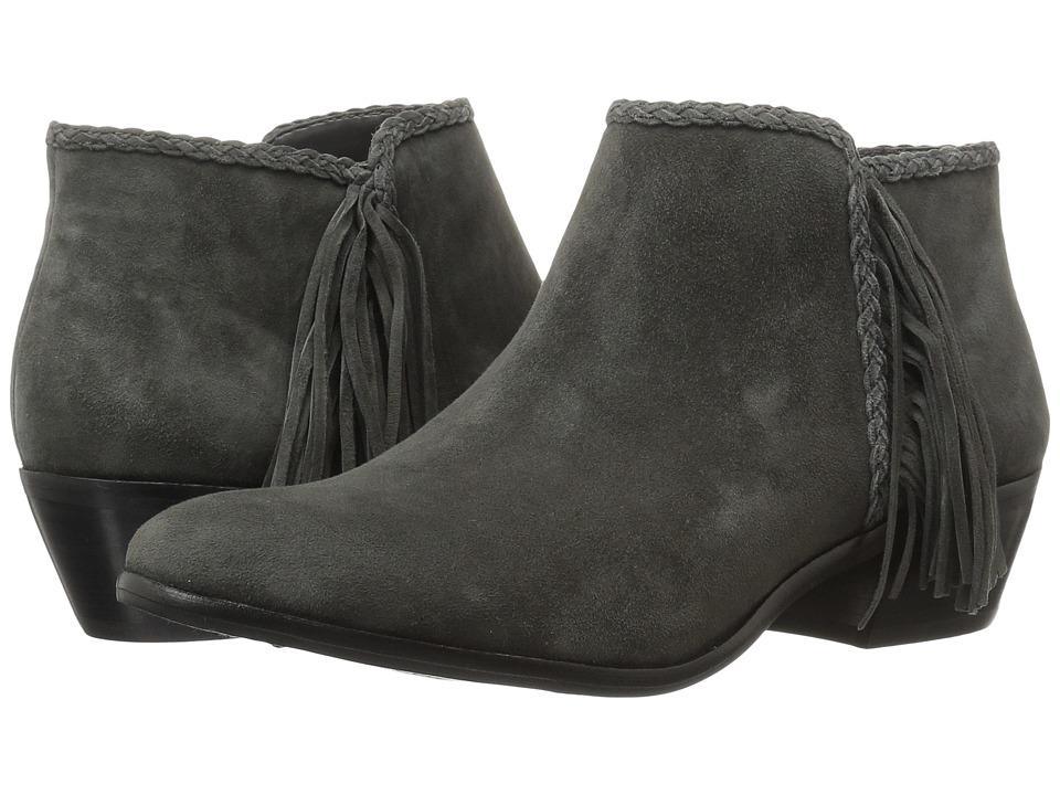 Sam Edelman Paige Phantom Grey Kid Suede Leather Womens Zip Boots