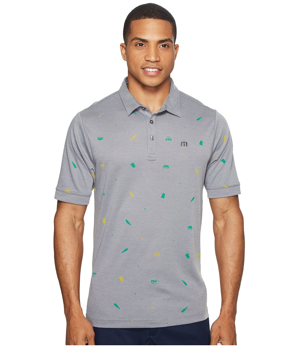 TravisMathew - Giddy Up (Micro Chip/Grey Pinstripe) Men's Clothing