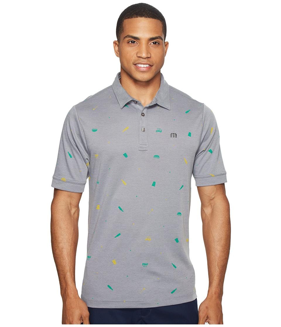 TravisMathew - Giddy Up (Micro Chip/Grey Pinstripe) Men's Clothing