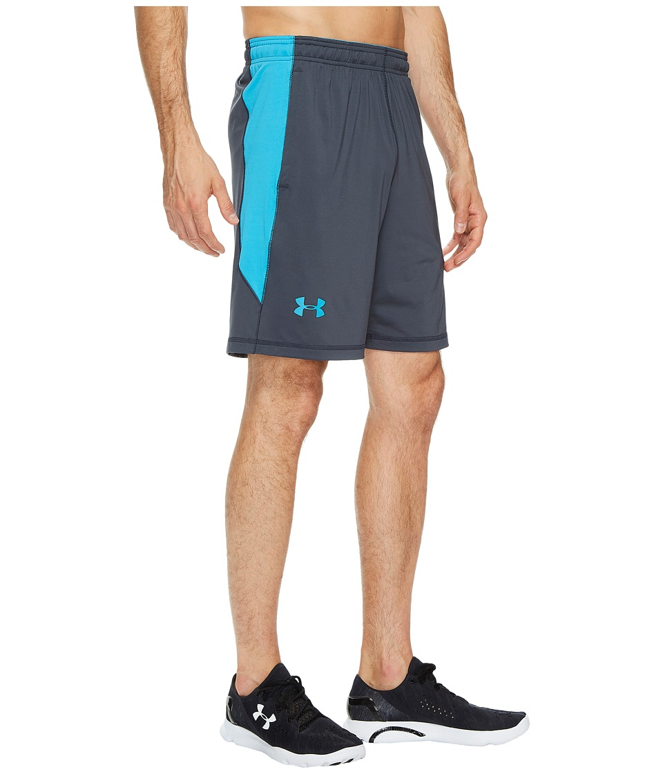 Under Armour - 8 Raid Short (Stealth Gray/Blue Shift) Men's Shorts