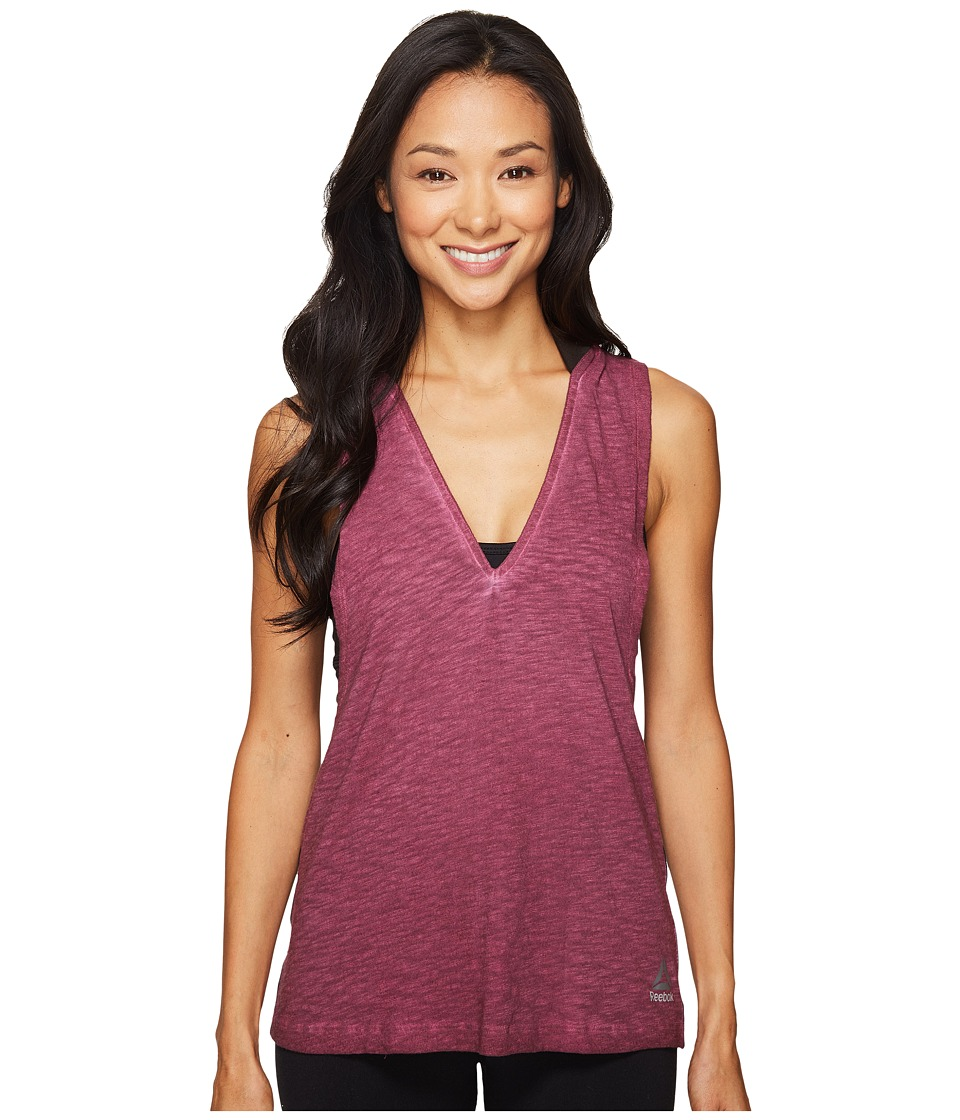 Reebok - Hooded Tank Top (Red) Women's Sleeveless