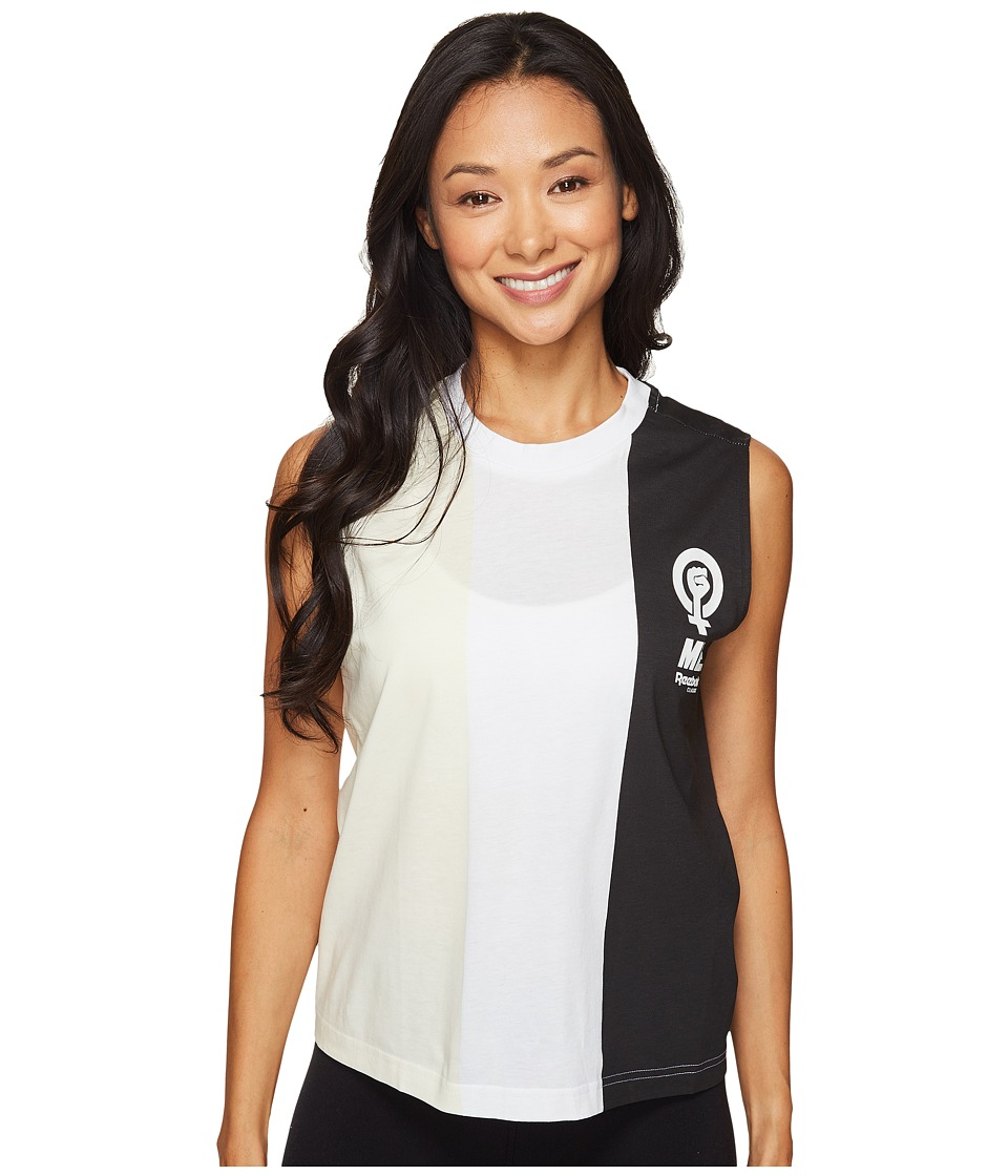 Reebok - Stripe Tank Top (Black/White) Women's Sleeveless
