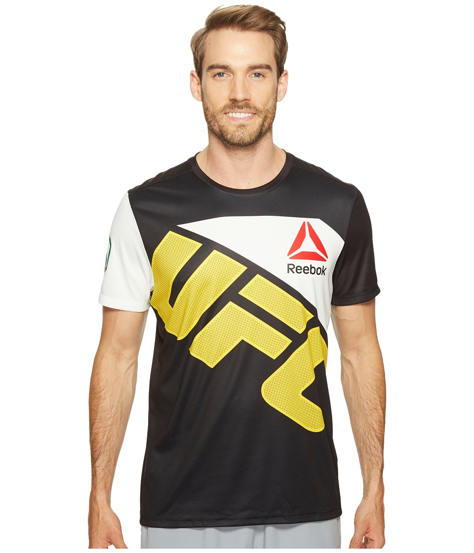 Reebok - UFC Jersey (Black/Chalk) Men's Clothing